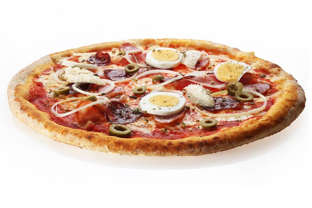 Pizza Gurken Schlankheitsgetränke
